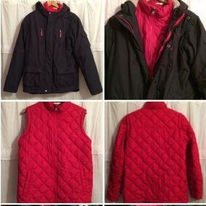 COPY -Land's End 5 Styles 3 in 1 Parka Vest Jacket